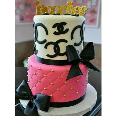 Chanel fondant cake | Torta para chicas |  Pastel de Chanel | Torta Tematica Chanel - Cod:CHL11