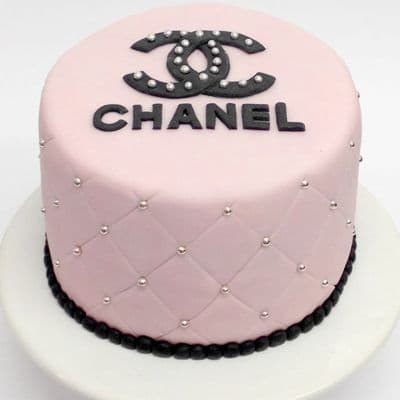 Chanel fondant cake | Torta para chicas |  Pastel de Chanel | Torta Chanel Redonda - Cod:CHL14