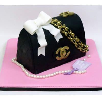 Chanel fondant cake | Torta para chicas |  Pastel de Chanel | Pastel de Chanel - Cod:CHL16