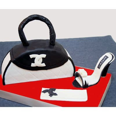 Chanel fondant cake | Torta para chicas |  Pastel de Chanel | Pastel de Chanel - Cod:CHL17