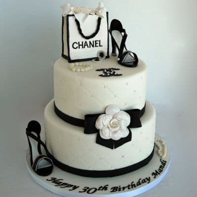 Chanel fondant cake | Torta para chicas |  Pastel de Chanel | TORTA CHANEL  - Cod:CHL20
