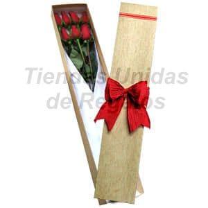 Cajas de Rosas Rojas Para Enamorar | Florería | Caja de Rosas 07 - Cod:CJS07
