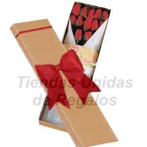 Cajas de Rosas Rojas Para Enamorar | Florería | Caja de Rosas 12 - Cod:CJS12