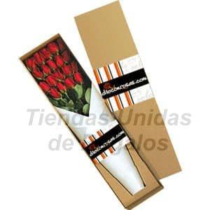 Cajas de Rosas Rojas Para Enamorar | Florería | Caja de Rosas 16 - Cod:CJS16