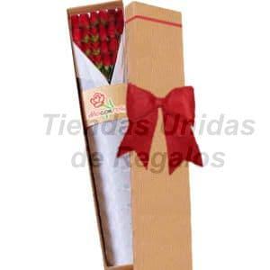 Cajas de Rosas | Cajas con Rosas | Caja de Rosas 24 - Cod:CJS24