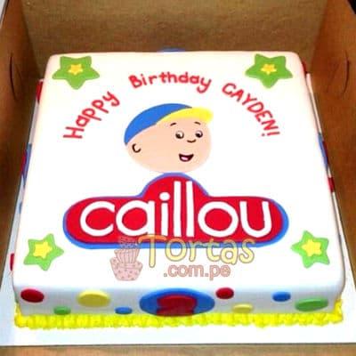 i-quiero.com - Tortas Caillou - Codigo:CLL01 - Detalles: Keke De Vainilla  , el keke esta finamente decorado en masa el�stica, Medidas: 20 x 20 cm de diametro.dise�o segun imagen - - Para mayores informes llamenos al Telf: 225-5120 o 476-0753.