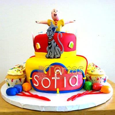 Torta con tema de Caillou | Torta caillou  - Whatsapp: 980-660044