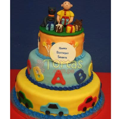 Pastel de tematica de Caillou | Torta caillou  - Cod:CLL08