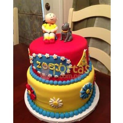 Torta Caillou dos pisos | Torta caillou  - Whatsapp: 980-660044