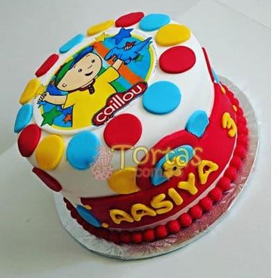 i-quiero.com - Torta Caillou redonda  - Codigo:CLL14 - Detalles: keke De Vainilla  , el keke esta finamente decorado en masa el�stica, medida: 15 cm de diametro en fototorta - - Para mayores informes llamenos al Telf: 225-5120 o 476-0753.