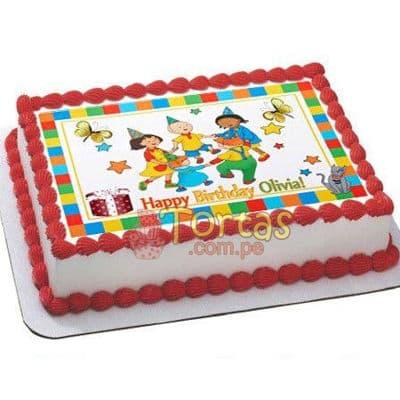 Torta con Caillou  | Torta caillou  - Cod:CLL15