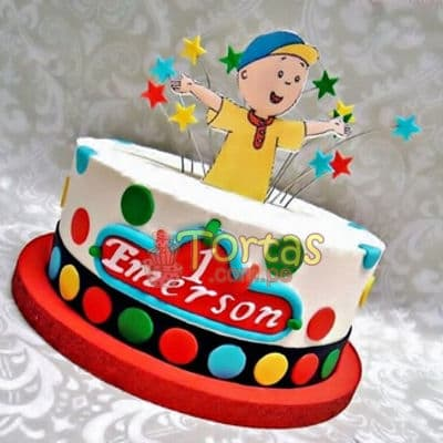 i-quiero.com - Torta Caillou mediana - Codigo:CLL16 - Detalles: keke De Vainilla  , el keke esta finamente deocrada en mas elastica, medida: 15 cm de diametro, dise�o seg�n imagen, silueta en fotoimpresion no comestible - - Para mayores informes llamenos al Telf: 225-5120 o 476-0753.