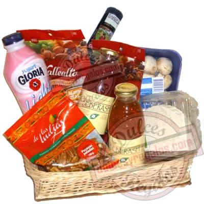 Canasta para regalar Vegetariana - Cod:CNJ01