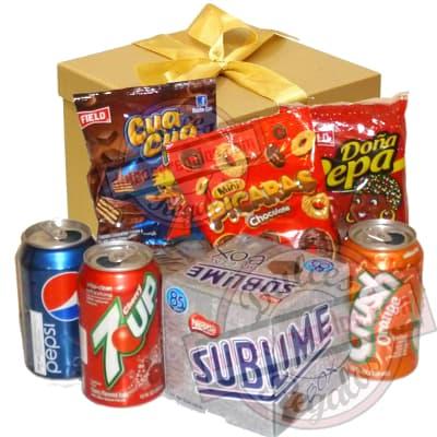 Canasta para regalar con dulces - Cod:CNJ02
