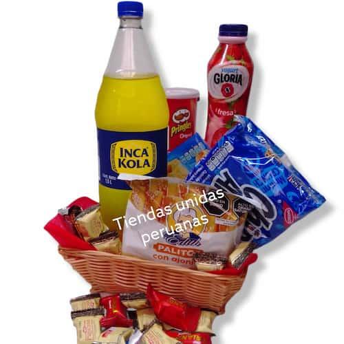 Canasta para regalar de Dulces - Cod:CNJ04