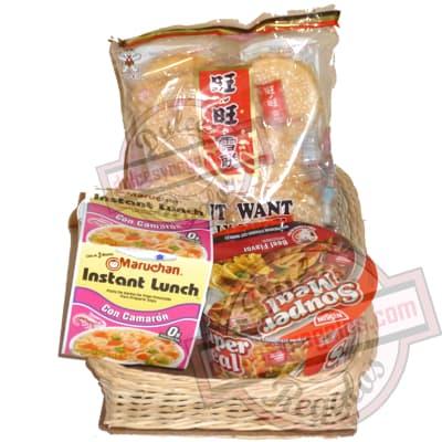 Canasta para regalar con productos orientales - Cod:CNJ07