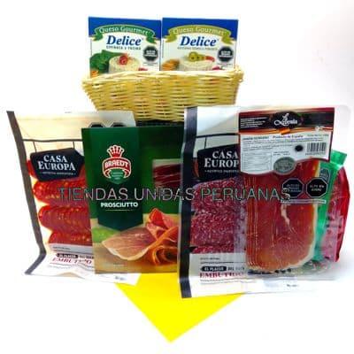Canasta para regalar Gourmet para el - Cod:CNJ08