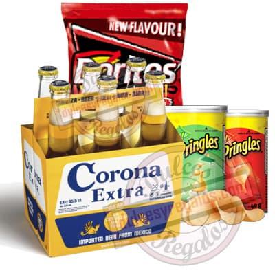 Canasta para regalar con Cerveza Corona - Cod:CNJ09