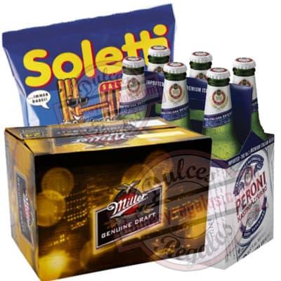 Canasta para regalar con Cervezas Importada - Cod:CNJ11