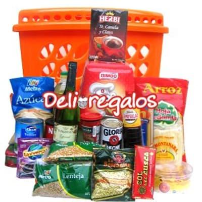 Regalos Delivery Lima | Canasta con alimentos | Caja de Viveres - Cod:CNT03