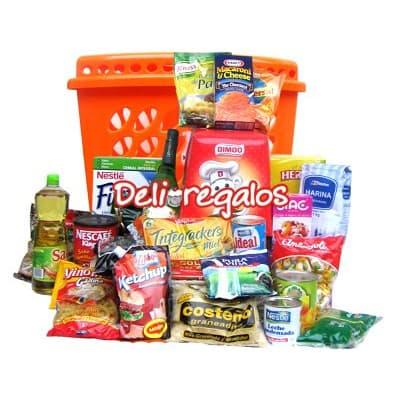 Regalos Peru | Desayunos Delivery Lima Peru | Canasta Especial de Viveres - Cod:CNT25