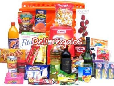 Cesta Deluxe de alimentos - Cod:CNT11