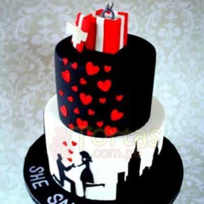 Torta para fiesta de Compromiso - Cod:COP06