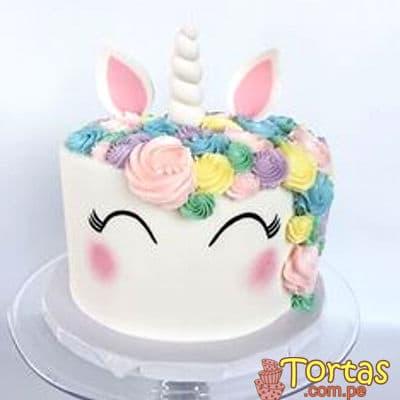 Torta Unicornio | Torta de Unicornio con crema - Cod:COR01