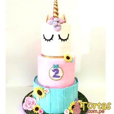 Torta de Unicornio con crema | Torta de Unicornio - Cod:COR02