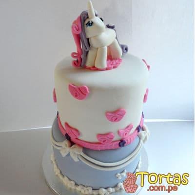 Torta con tematica de unicornio  - Cod:COR03