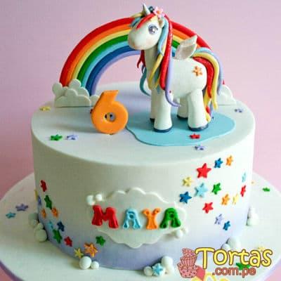Torta con Tema Unicornio - Codigo:COR04 - Whatsapp: 980-660044.