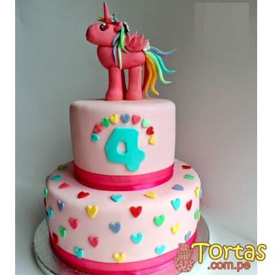 Torta de unicornio | Torta con Unicornio - Cod:COR05