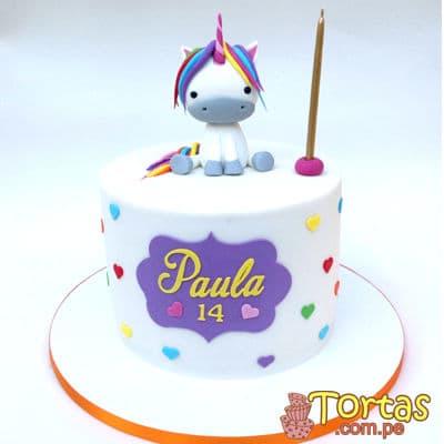 Torta Unicornio con crema | Torta Unicornio Personalizada - Cod:COR08