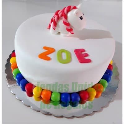 Torta Unicornio Arcoiris - Codigo:COR09 - Whatsapp: 980-660044.