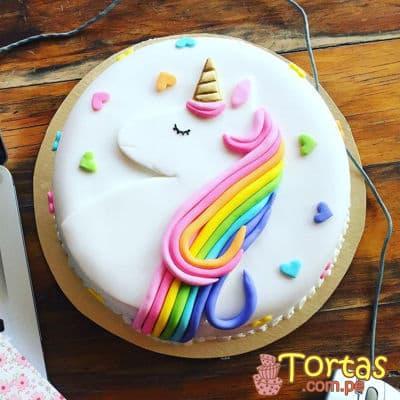 Torta Unicornio en masa elastica - Codigo:COR10 - Whatsapp: 980-660044.