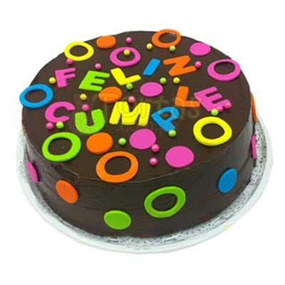Torta de Feliz dia | Tortas de Cumpleaños - Cod:CUM03