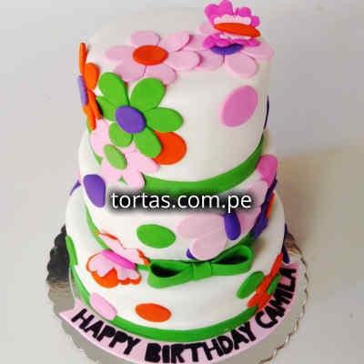 Torta Flores para Cumpleaños | Torta de Cumpleaños - Whatsapp: 980-660044