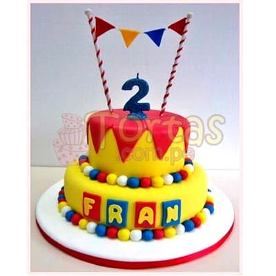 Torta Feliz dia de dos pisos - Cod:CUM11