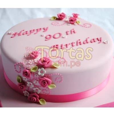 Torta Feliz cumple para dama - Cod:CUM13