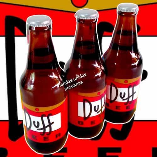 Deliregalos.com - Pack de 3 Duff - Codigo:DBA01 - Detalles: Cervezas Artesanales lager, claras y brillantes, tipo Pilsener. Tiene un contenido alcoh�lico de 5% y un contenido menor al 3.5% de carbohidratos. Botellas Personales de 330ml. Dise�o especial Duff, segun imagen.  Las cervezas vienen frias para su transporte. El presente incluye una caja de regalo sellada y tarjeta de dedicatoria. - - Para mayores informes llamenos al Telf: 225-5120 o 476-0753.