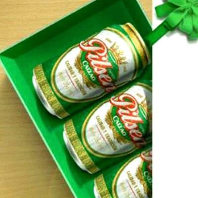 Deliregalos.com - Ramo de Patas - Codigo:DBA04 - Detalles: Caja ecologica conteniendo 4 deliciosas latas de clasica cerveza Pilsen de 33ml cada una - - Para mayores informes llamenos al Telf: 225-5120 o 476-0753.