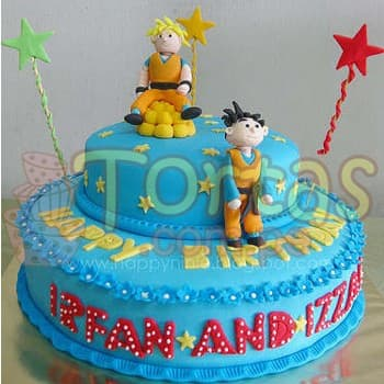 Tortas de Dragon ball | Torta Dragon Ball - Cod:DBC01