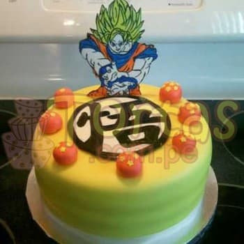 Torta Dragon Ball y Esferas del Dragon - Cod:DBC02