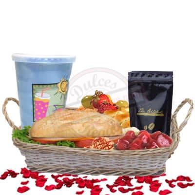 Grameco.com - Desayuno Papa 21 - Codigo:DDP21 - Detalles: Desayuno en cesta de mimbre conteniendo: Jugo de frutas, s�ndwich de lomito ahumado, ensalada de frutas,  sachet grande de caf� especial, postre de 3 leches. - - Para mayores informes llamenos al Telf: 225-5120 o 476-0753.
