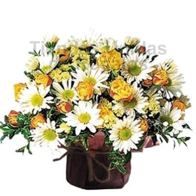 Dia de la Mujer - Arreglos de Flores x 6 - Codigo:DMJ05 - Detalles: Lindo arreglo de flores variadas primaverales con base de ceramica.  Incluye tarjeta de dedicatoria. La unidad le sale a S/. 19 - - Para mayores informes llamenos al Telf: 225-5120 o 980-660044.