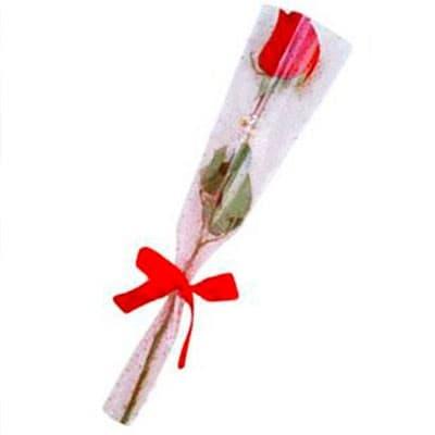 Ramo de 1 Rosa - Codigo:DMJ31 - Detalles: Lindo Ramo de 1 rosa incluye celofan especial y precioso mo�o, incluye tarjeta de dedicatoria.  - - Para mayores informes llamenos al Telf: 225-5120 o 980-660044.