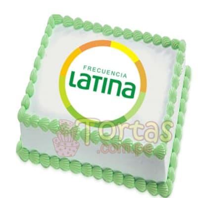Torta Institucional - Codigo:DMJ37 - Detalles: Deliciosa torta de Vainilla con medidas de 10x10cm ba�ada con manjar y forrada con masa elastica. Dise�o en fotoimpresion personalizado - - Para mayores informes llamenos al Telf: 225-5120 o 980-660044.