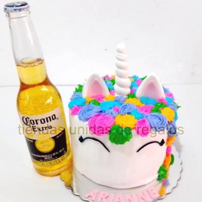 Torta Unicornio y Cerveza Dia de la Mujer - Cod:DMK07