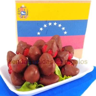 Fresas con chocolate para la Chama | Fruteros Delivery - Cod:DMK24