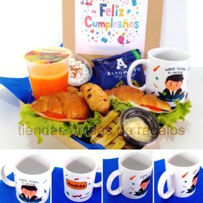Regalar Desayunos | Desayuno con Taza Personalizada  - Whatsapp: 980-660044